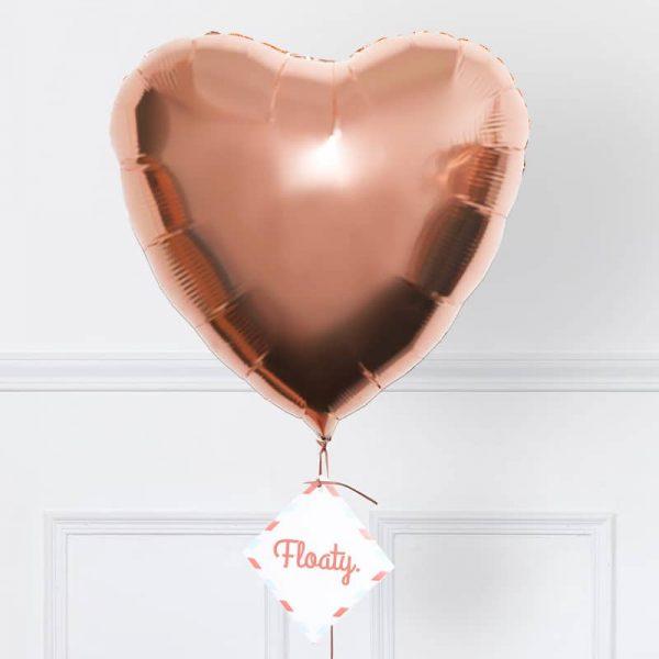 Herzluftballon rosegold zoom
