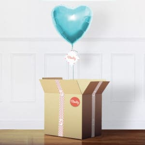 Herzluftballon Pastell-Türkis im Karton