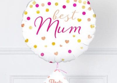 Beste Mama Ballon mit Punkten zoom