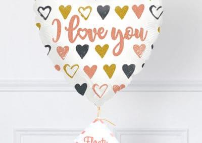 Herzluftballon Ich liebe dich zoom