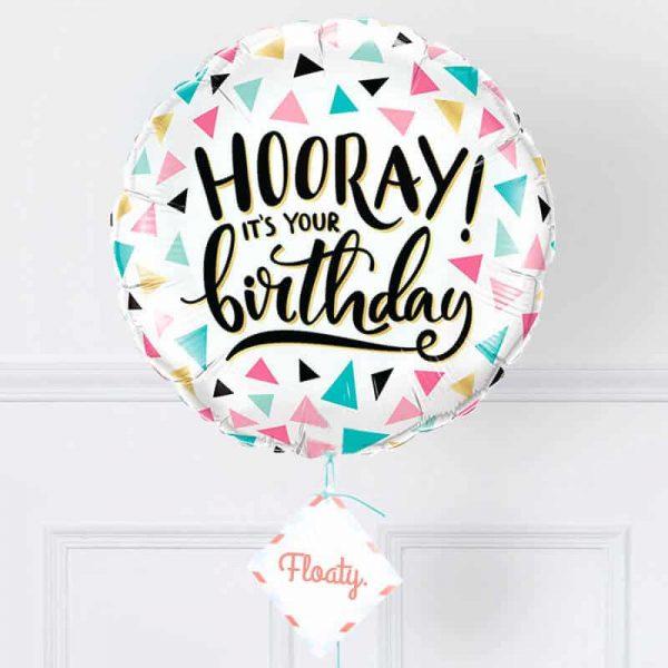 bunter Geburtstagsballon zoom