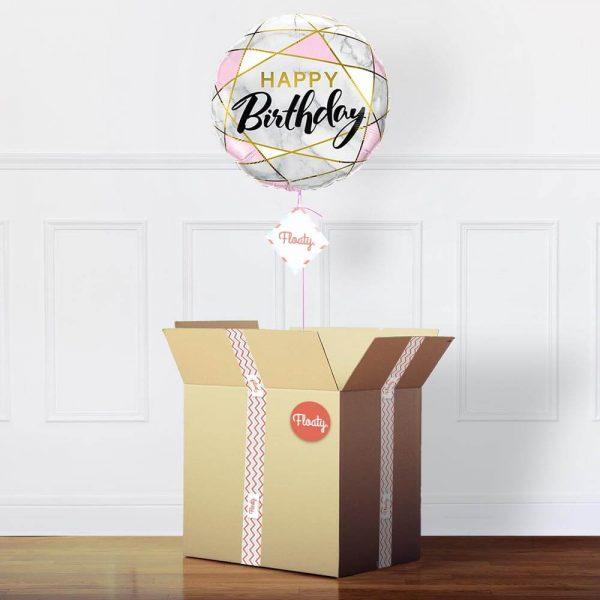 Geburtstagsballon Marmor im Paket