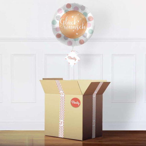 Glückwunsch Luftballon im Karton