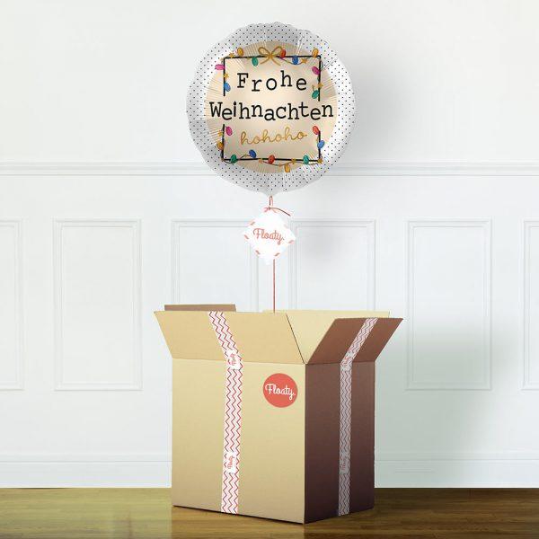bunter Weihnachtsballon