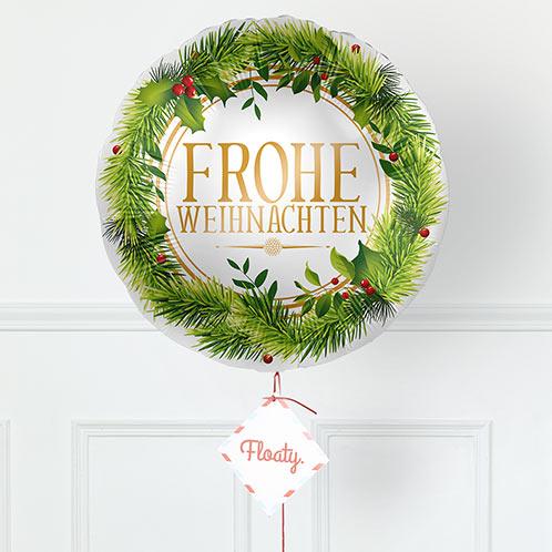 festlicher Weihnachtsballon zoom
