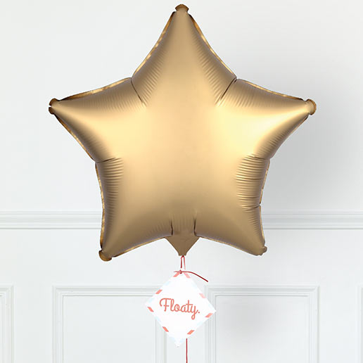 Sternluftballon Satin Gold zoom