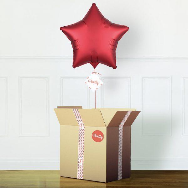 Sternluftballon satin rot
